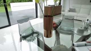 Glass dining table sets - Mikado dining table range by Calligaris Furniture Village