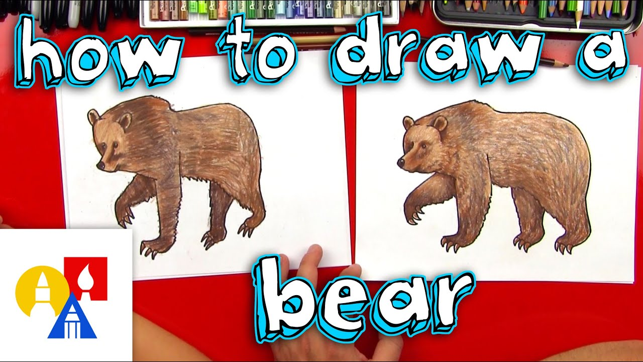 how to draw a grizzly bear realistic youtube