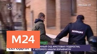 Столичный суд арестовал подростка, у которого нашли взрывчатку - Москва 24