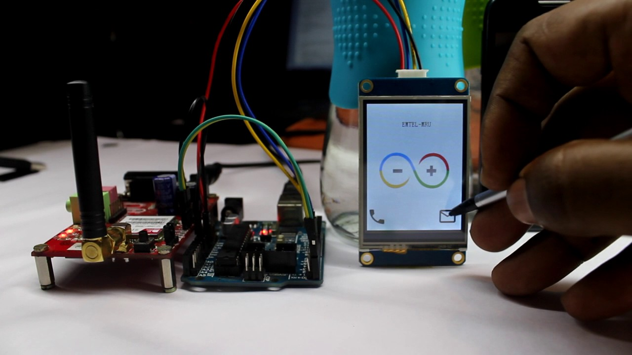 Lightweight GSM Mobile With Arduino UNO and Nextion Display
