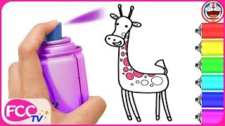 Draw with Paw Patrol & How to Draw Animals, Giraffe for Baby Coloring Book & Drawing for Kids