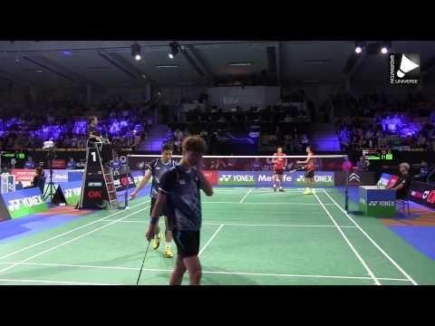 Fu Haifeng / Zhang Nan vs Ko Sung-hyun / Shin Baek-cheol - MD SF [Denmark Open 2014]