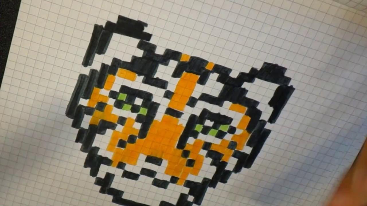 Tigre En Pixel Art