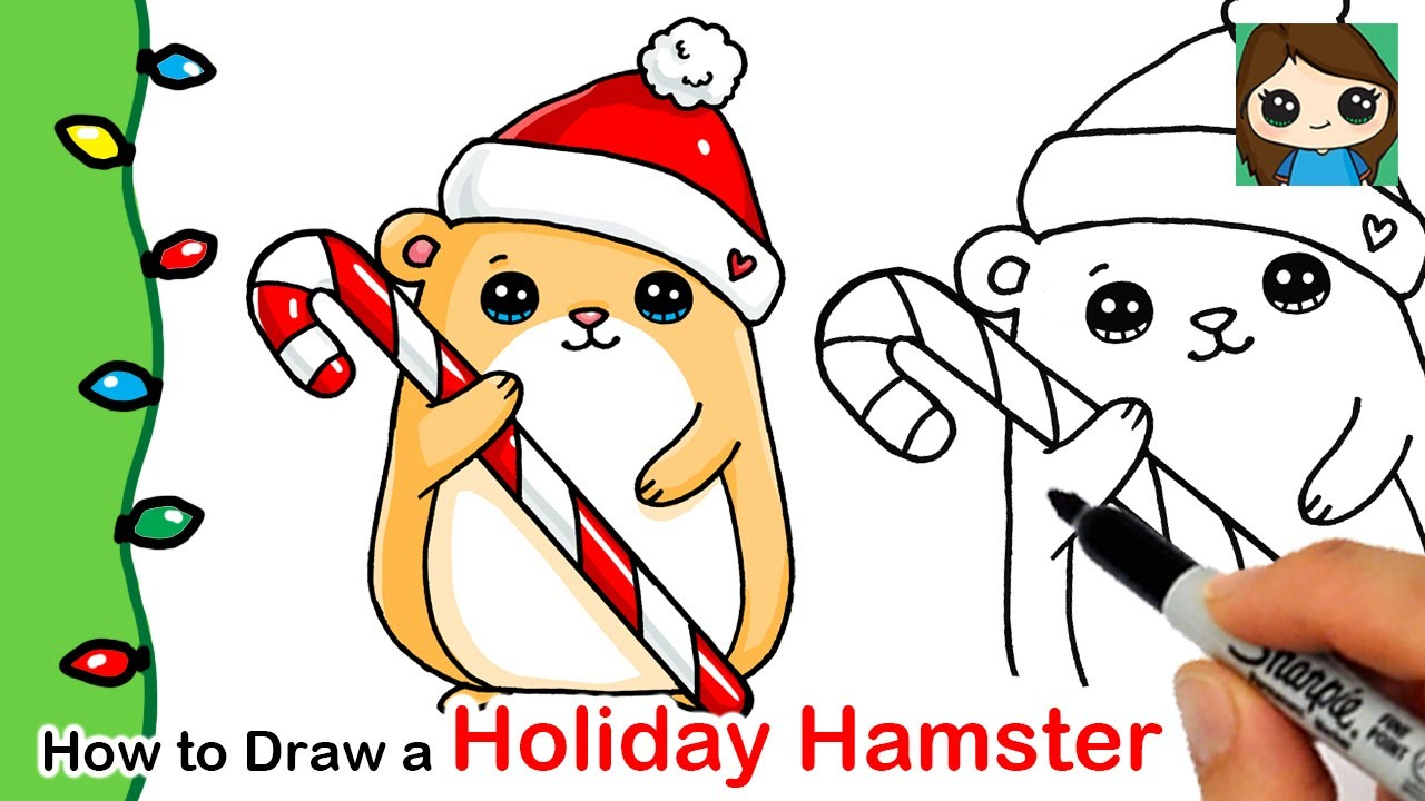 How To Draw A Holiday Hamster Christmas Series 9