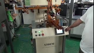 printing head up down video 2 of S500M semi-auto screen printer