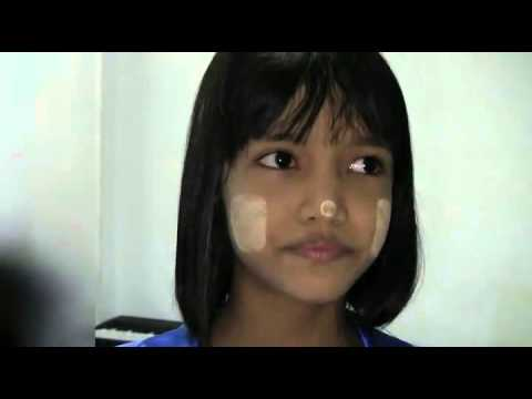 Adorable Burmese girl singing My Heart Will Go and Myanmar classical song