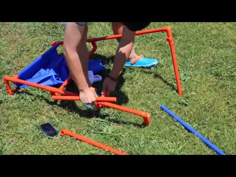 【Calshop】Tailgate Golf Cornhole and Ladder Chipping Golf Game Setting up Tutorial