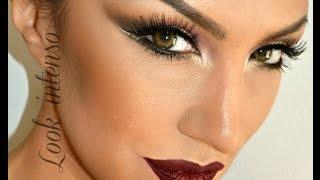 Look INTENSO, labios rojos y ojos ahumados