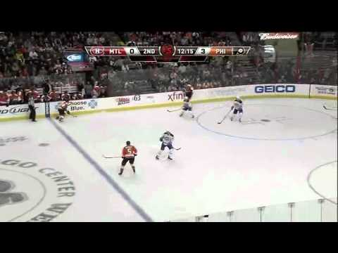 Flyers with a great shift against the Canadiens