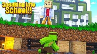 Minecraft Challenge - SNEAKING INTO MOST SECURE MINECRAFT SCHOOL