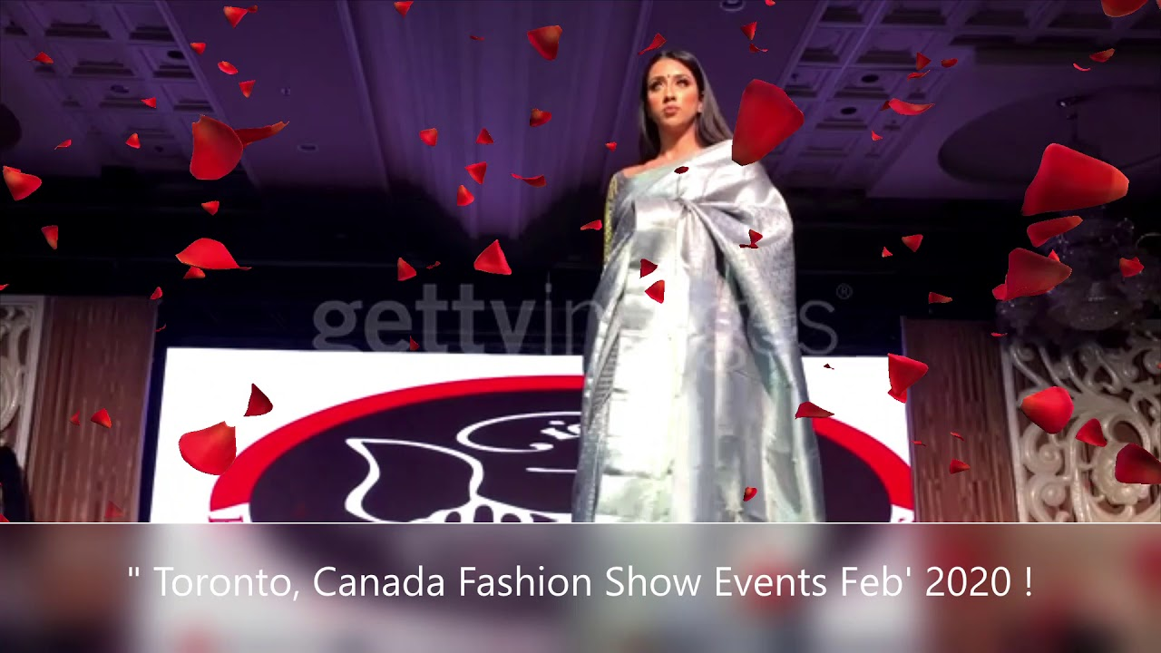 The Best Indian Fashion Show Event In Toronto Canada Feb 2020 Youtube