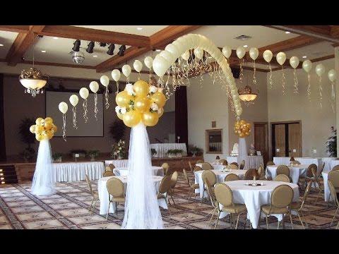 украшение своими руками зала фото на свадьбу