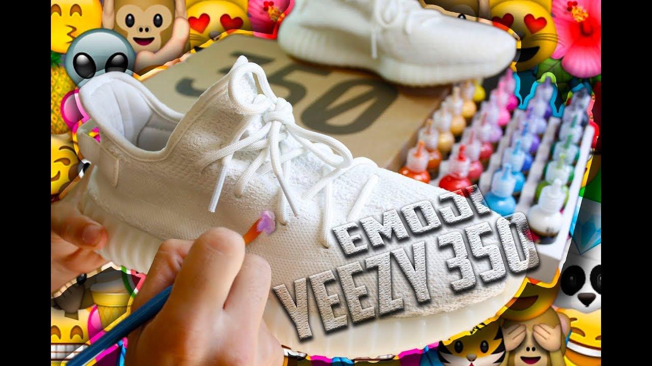 Customizacion Zapatillas Yeezy Personalizacion 350 Emoji De Adidas XwiuTPkZO