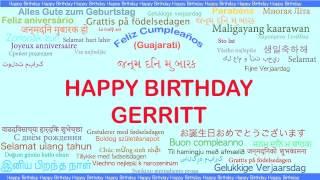 Gerritt   Languages Idiomas - Happy Birthday