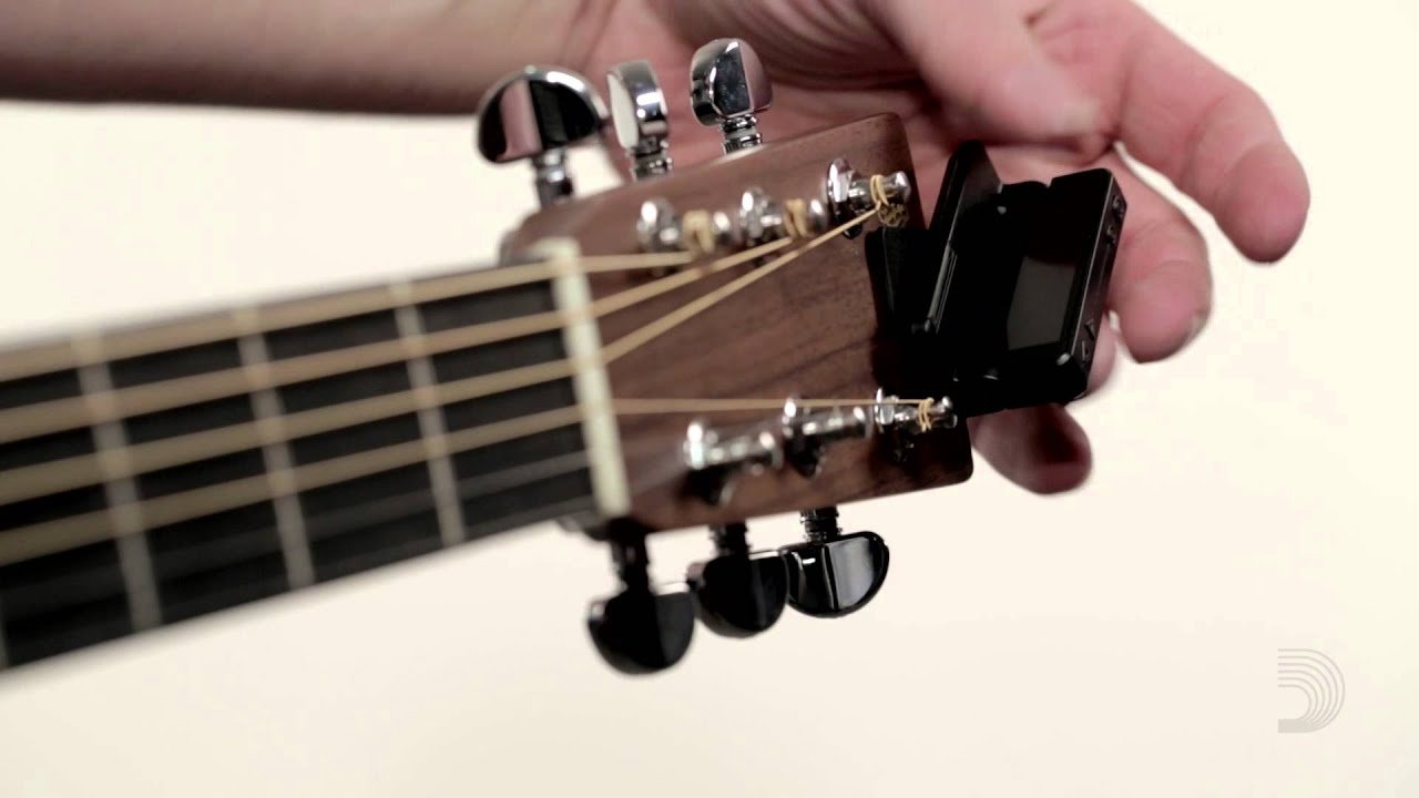 d 39 addario clip on headstock tuner demo youtube. Black Bedroom Furniture Sets. Home Design Ideas