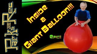 HOW TO STUFF YOUR KID INTO A GIANT BALLOON!!!!