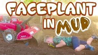ROCCO FACE-PLANTS IN MUD