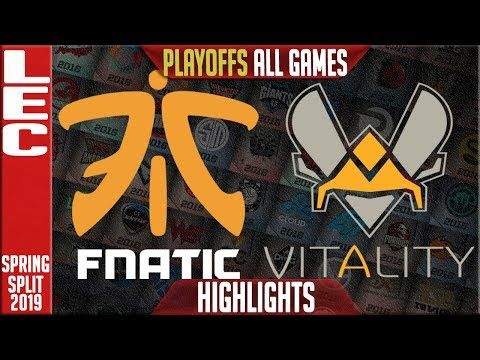FNC vs VIT ALL GAMES Highlights | LEC Playoffs Spring 2019 Round 1 | Fnatic vs Vitality