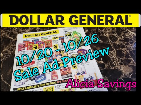 Dollar General Early Ad Preview | 10/20 - 10/26 Sale Ad Preview
