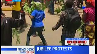 Hundreds of Jubilee supporter come out to demand the remove two supreme court judges
