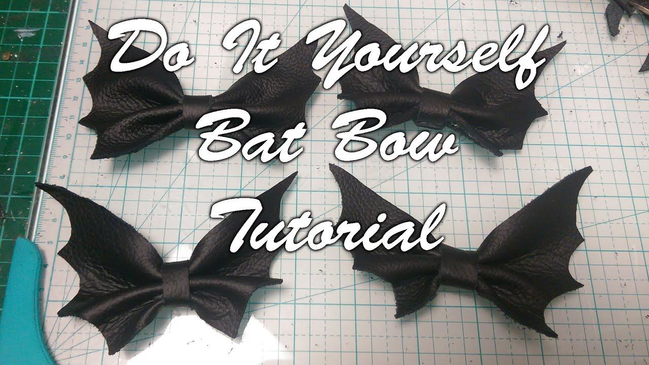 e9fc590b5c98 DIY Bat Bow Tutorial - Real Leather & No Sew!! Easy Goth Accessories! ✂