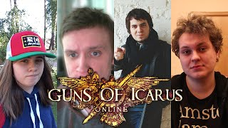 Лизка, Хованский, Мэддисон и Линк в Guns Of Icarus Online