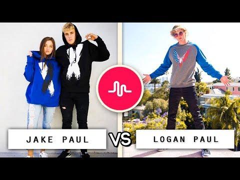 Jake Paul vs Logan Paul Musical.ly Battle / Who's the Best