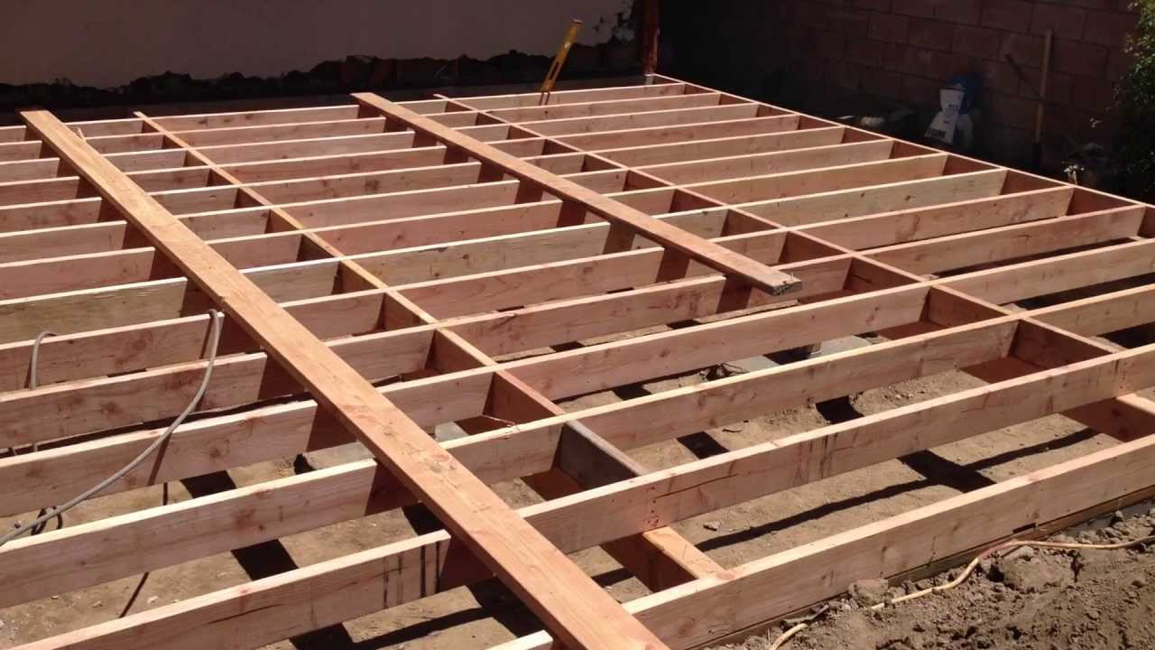 Floor joist installation and blocking youtube for Floor joist construction