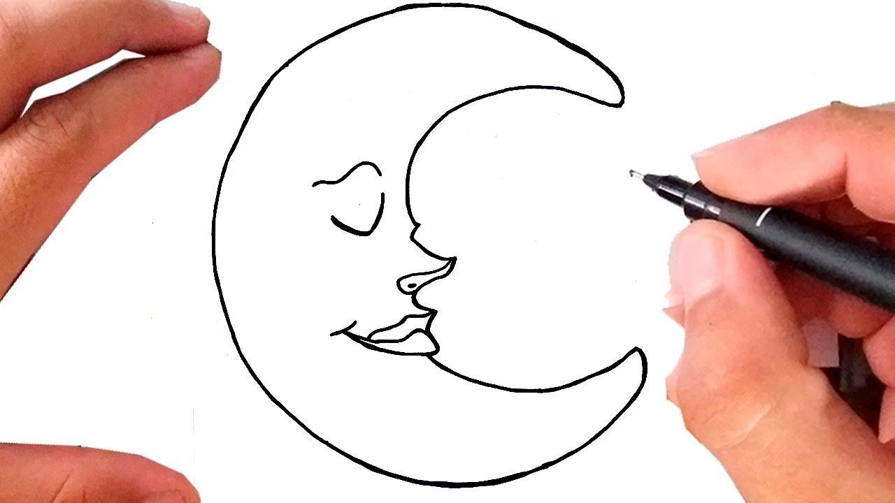 Como Desenhar A Lua Youtube
