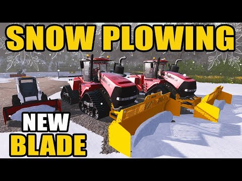 SNOW PLOWING THE TOWN | NEW CASE IH QUADTRAC WITH PITBULL BLADE & MORE | FARMING SIMULATOR 2017