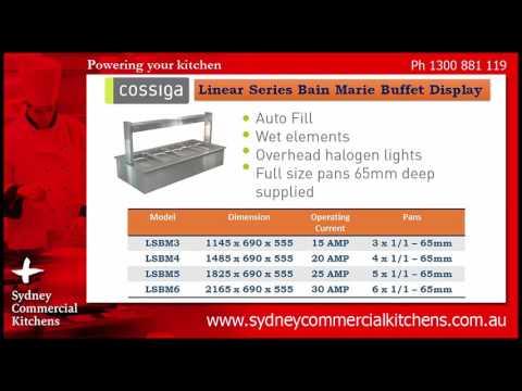 Cossiga Linear Buffet Food Display Cabinets