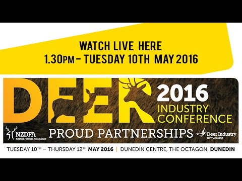 2016 Deer Industry NZ Conference Live Stream