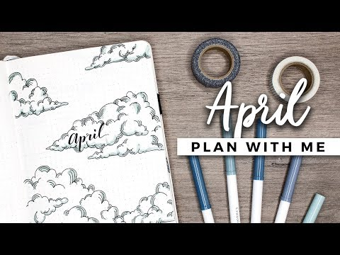 PLAN WITH ME | April 2018 Bullet Journal Setup