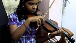 Pattu Paadi Urakkaam Violin Cover Solo Abha Trivandrum (Disciple of Violinist P Chidambaranath)