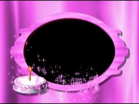 Birthday Cake Pink Photo Frame Video Background Animation Motion Graphics HD