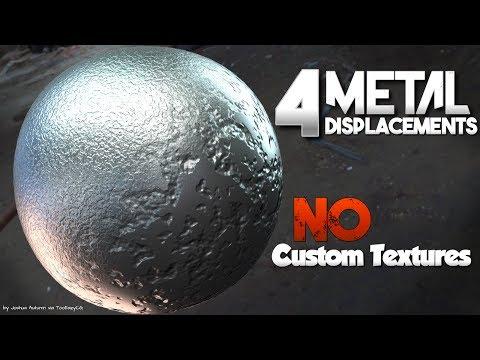 4 Metal Displacement Shaders (NO custom textures or maps) || Blender Tutorial