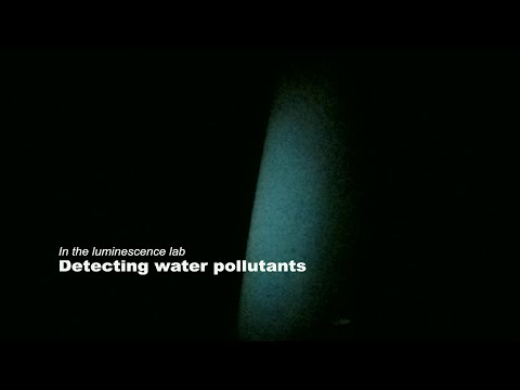 In the luminescence lab: Detecting water pollutants