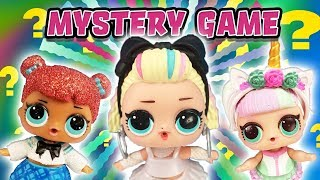 LOL Dolls Play Disney Mystery Clue Guessing Game! Starring 80's Baby, Independent Queen and Unicorn!