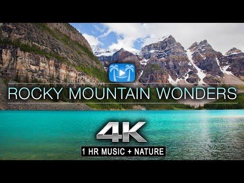 1 HR 4K: ROCKY MOUNTAIN WONDERS (music + nature)™ Dynamic Relaxation Film - Banff & Jasper Alberta