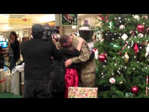 Daughters suprised by fathers arrival at ocean county mall TR, NJ