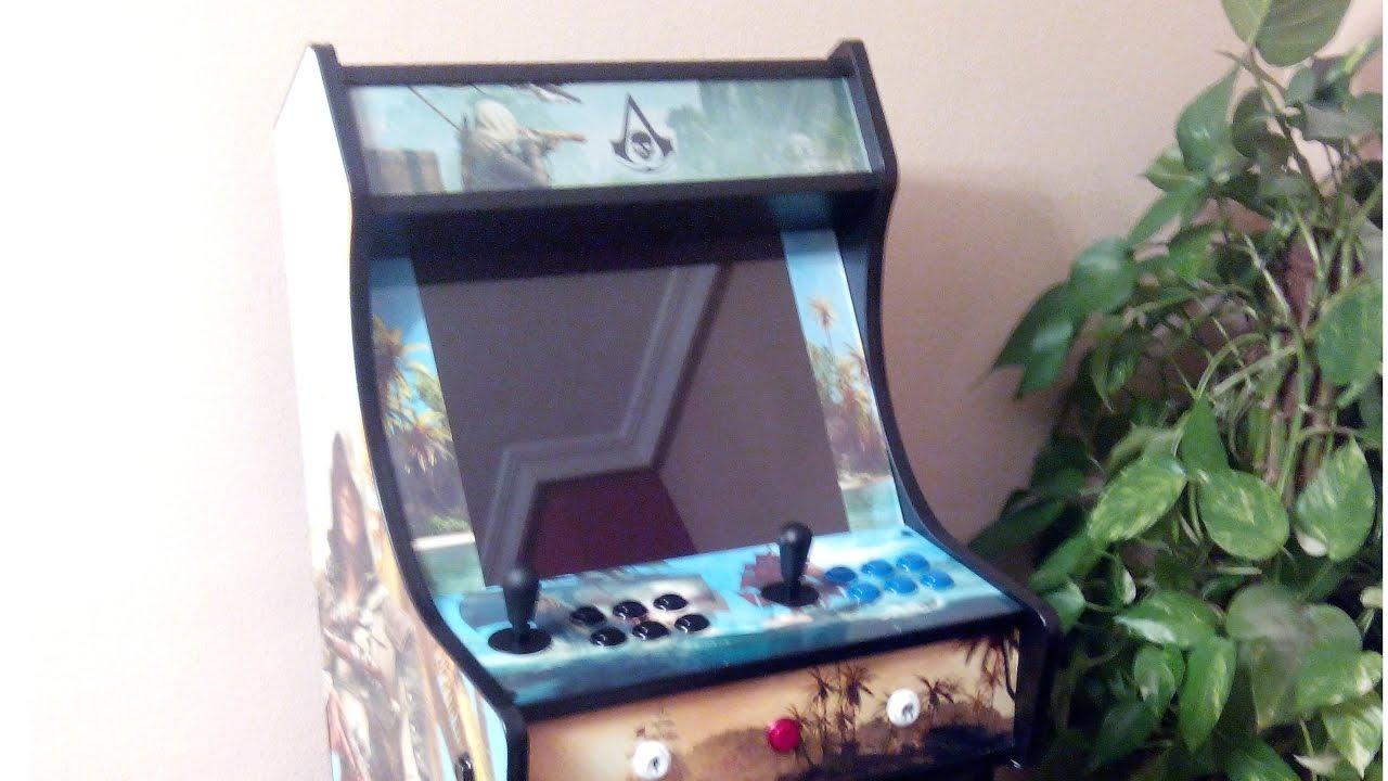 arcade bartop con pie vistazo mueble maquina recreativa