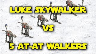 ◀ Star Wars: Galactic Battlegrounds - Luke Skywalker vs 5 AT-AT Walkers