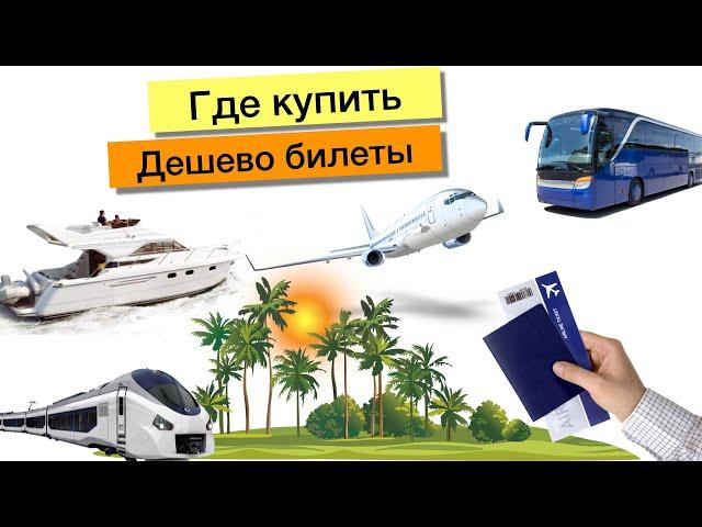 Где купить дешево билеты на самолет, автобус, лодку, катер