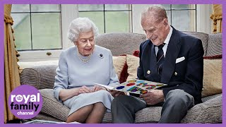 Buckingham palace has released a new photo of the queen and prince philip as royal couple celebrate their 73rd wedding anniversary.they got married at we...