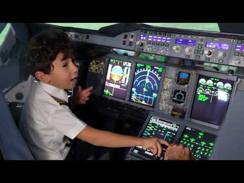 6-year-old youngest Pilot | Etihad Airlines