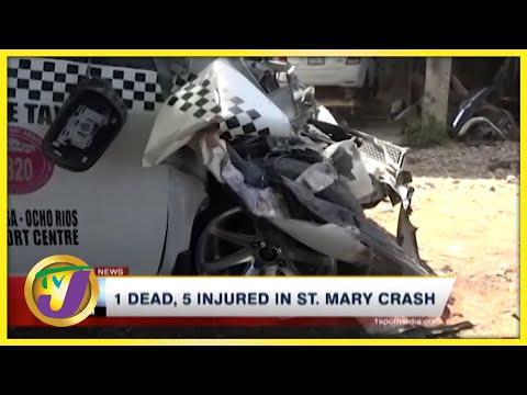 1 Dead, 5 Injured in St. Mary Crash | TVJ News - July 23 2021