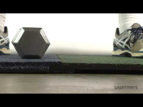 Sterling Athletic Rubber Tiles - Rubber Flooring for Gyms, Decks and Patios