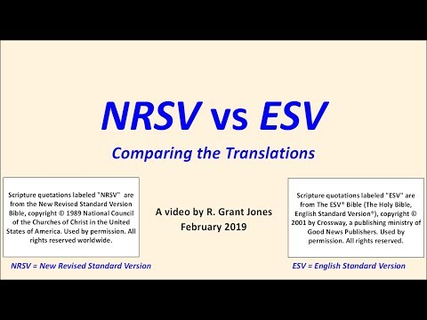 NRSV vs ESV -- a Translation Review