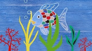 Wax resist painting: The Rainbow Fish