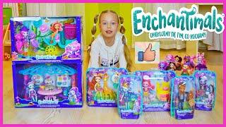 Мои новые куклы Enchantimals РАСПАКОВКА Новинки игрушки ЭНЧАНТИМАЛС Обзор коллекции героев Играем!